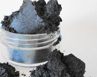 Goth Mineral Makeup Eye Shadow eyeliner 5g Sifter Jar Blue Black Eyeshadow Petite Size Smokey eyes