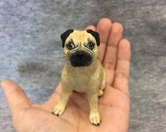 ON SALE Custom Pet Portrait Clay Commission OOAK Handmade Rabbit/Dog etc Sculpture Memorial