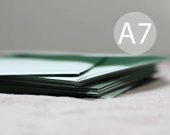 """25 5x7 Mint Green Metallic Envelopes - Shimmer A7 Mint Green Envelopes - Wedding Envelopes - 5x7 inches (true size 5 1/4"""" x 7 1/4"""")"""