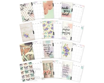 Bliss A5 Planner Inserts - A5 Planner Dividers - A5 Planner Pages - Monthly Inserts - Planner Refill - Carpe Diem Bliss Collection - 021736