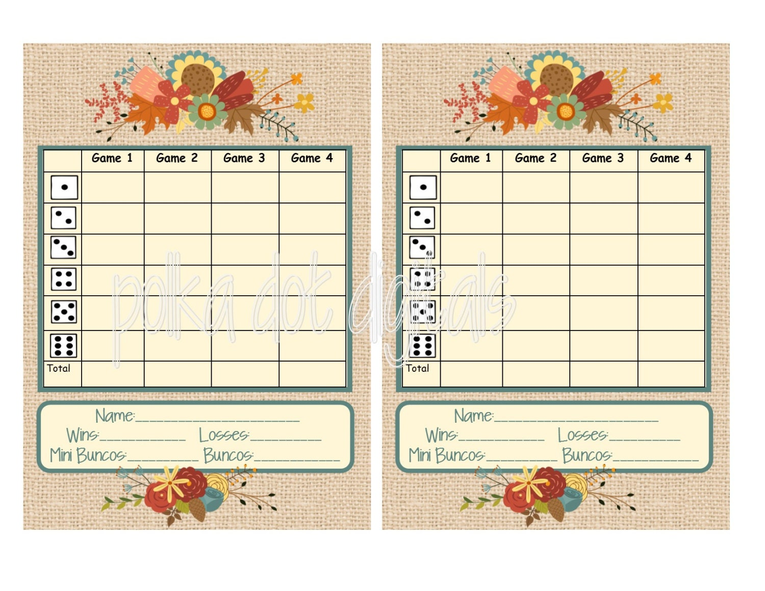 It's just an image of Eloquent Bunco Tally Sheets Printable