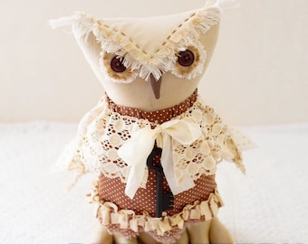 OWL PATTERN PDF owl animal pattern pdf digital pattern Fabric doll pattern Sewing doll instruction owl toy Pattern Vintage toy