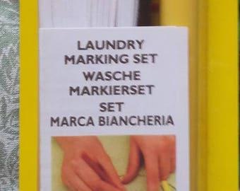 KIT for marking laundry - black writing
