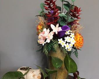 Paper flower bouquet - wild flowers, realistic paper flowers, birthday gift, wedding flowers, anniversary gift