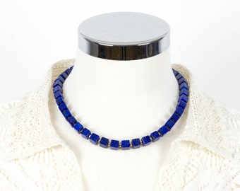Lapis Lazuli Necklace, Gemstone necklace, Handmade Jewelry, Gemstone Jewelry, chakra, unique-gift-for-wife, fashion, mothers day