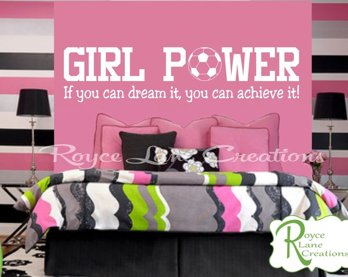 Girl Power Girls Soccer Wall Decal