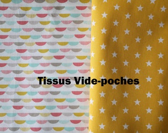 Order custom and reserved for Pauline: 2 small tidy + a cuddly OWL coral tones taupe yellow graphic patterns