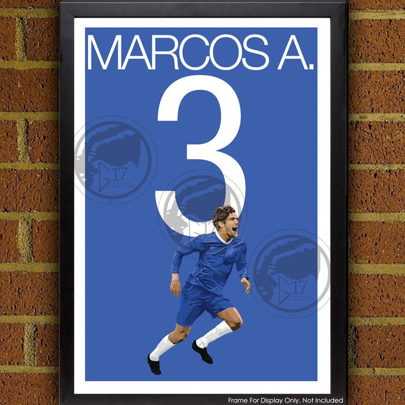Marcos Alonso 3 Poster Chelsea FC Spain Soccer Poster
