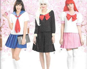 Simplicity Costume Pattern 8160 SAILOR MOON Lolita SCHOOLGIRL Misses Sizes 4 6 8 10 12