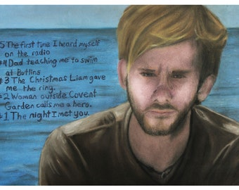 Charlie Pace Dominic Monaghan LOST Charcoal Pastel 11x17 Art Print