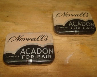 1950's 2 Metal Containers. Peterborough, Ont. - Norvall's Acadon