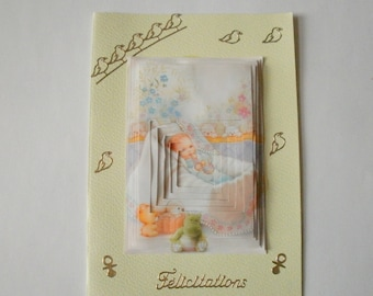 23 3d baby girl or boy greeting card