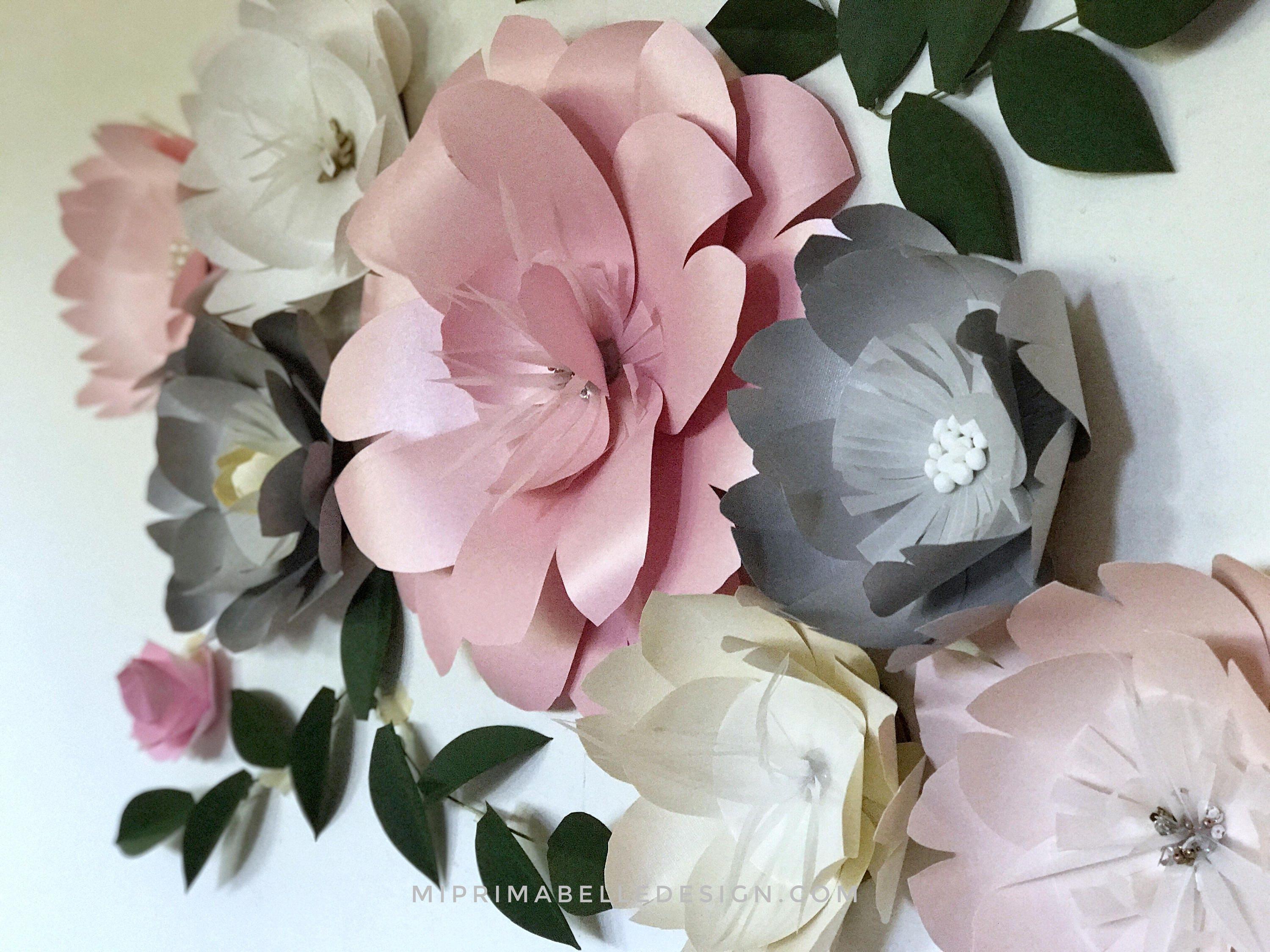 Paper flower decor bejeweled flower wall decor embellished flowers paper flower decor bejeweled flower wall decor embellished flowers with pearls bedroom wall pearly paper flower wedding decor mightylinksfo Image collections
