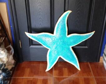Blue Starfish Metal Wall Art  (EA)