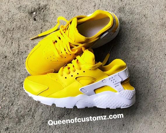 nike huarache yellow