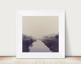 fog photograph winter photograph river photograph nature photography landscape photograph purple home decor english decor