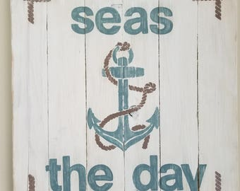 Anchor Wall Art - Seas the Day