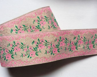 Jacquard Ribbon, 1+1/2 inch wide 1 yard and 14 inch cut