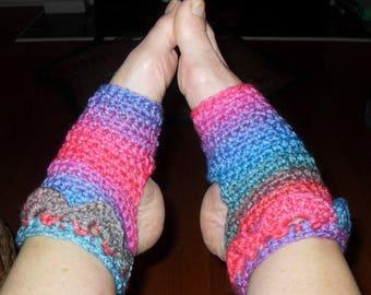 Ahimsa yoga socks crochet crocodile stitch women and men's versions included