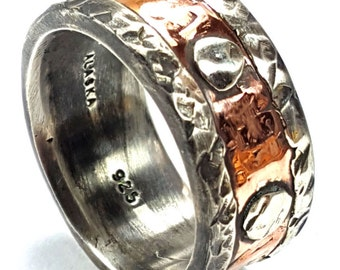 Rustic Men's  Wedding Band