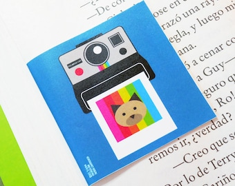 Polaroid. Magnetic Bookmark 2 x 2 in