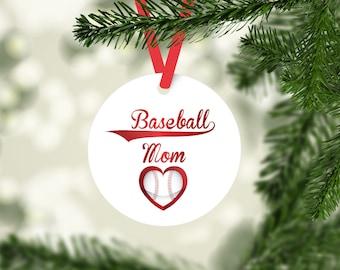 Baseball Mom Ornament