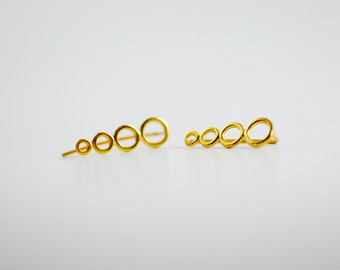 Bubbles Gold-Plated Sterling Silver Ear Climbers
