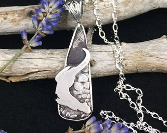 Otter Sands sterling silver custom river otter handmade necklace with beautiful SRA