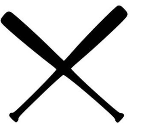 Baseball/Softball bats crossed SVG cutting file