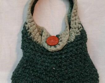 Felted crocheted handbag