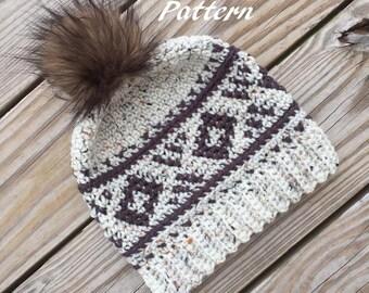 Sophia's Fair Isle Hat - Crochet Pattern