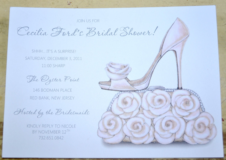 Bridal Shower Invitations Shoe Theme Bridal Shower Bridal