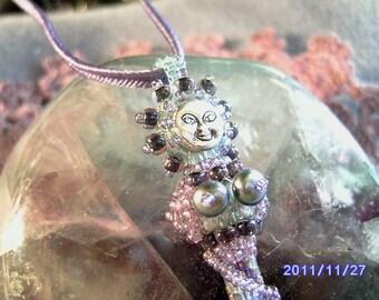Faerie Goddess Beadwoven Pendant