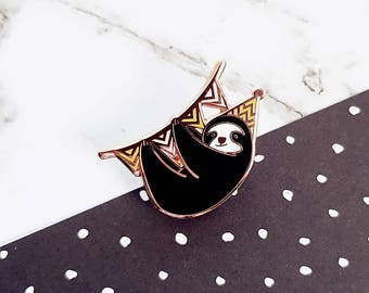Sloth Party Animal Hard Enamel Pin | Introvert party | Forest friends
