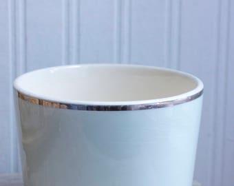 Vintage Universal Pottery  Nesting Bowls in Pastel Blue,  Universal Ballerina Mist 1940's Oven Proof