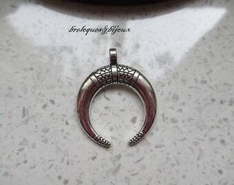 PENDENTIF ETHNIC MOTIFS argentés breloque pour bijoux Collier ou boucles d'oreilles style égyptien pour créations uniques