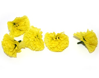 25 Bright Yellow Baby Carnations - Artificial Flowers - PRE-ORDER