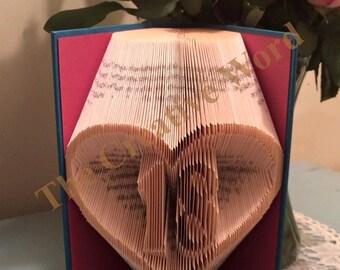 Heart 18 Book Folding Pattern