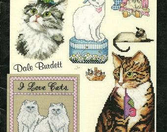 Dale Burdett: I Love Cats Cross Stitch Booklet