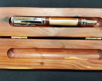 Hardwood Fountain Pen, Custom Wood Pen Case