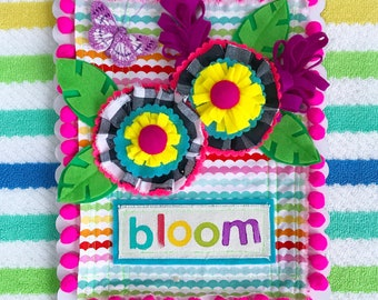 BLOOM -- Mixed Media Wall Art