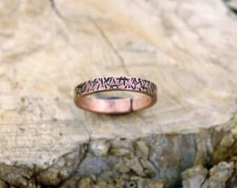 12 plus, Copper Ring, Arthritis Ring, Copper Jewelry, Adjustable Ring, Mens copper Ring - Womens copper Ring - Rustic copper Ring - USA