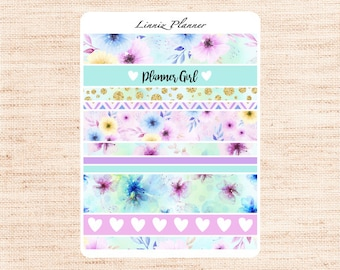 Watercolor Flowers Washi (matte planner stickers, Filofax, Kikki K, Websters Pages, Color Crush)