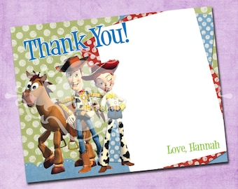 Polka Dot Toy Story Thank You Card