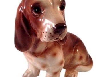 Vintage Beagle Dog Ceramic Dogs Figurine Gift for Dog Lover Japan