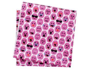 Pocket Square - Brain Emoji - Pink