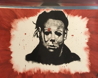 Michael Myers Halloween 9x12 Painting