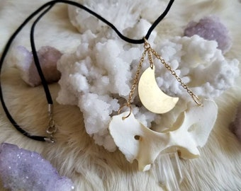 Lunar Goddess Coyote Atlas Bone Necklace