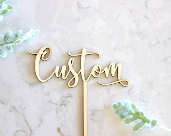 custom cake topper / custom birthday cake topper / custom wood cake topper / wood acrylic Laser Cut Topper / custom acrylic cake topper
