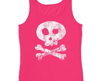 Jolly Roger Pirate Skull and Bones Ladies' Tank